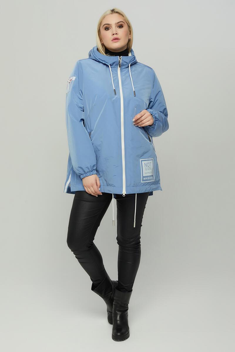 Женская весенняя куртка А-силуэта больших размеров  арт.848