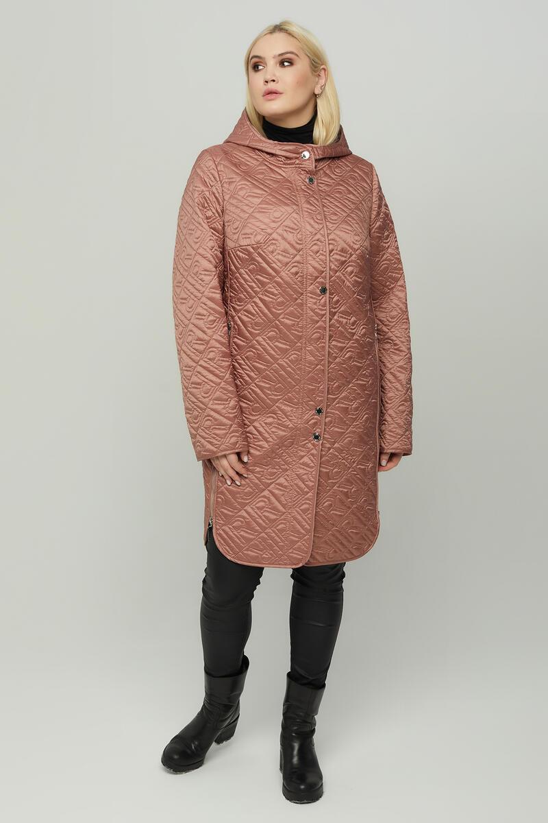 Жіноче стьобана весняне пальто великих розмірів 58-64 арт.847