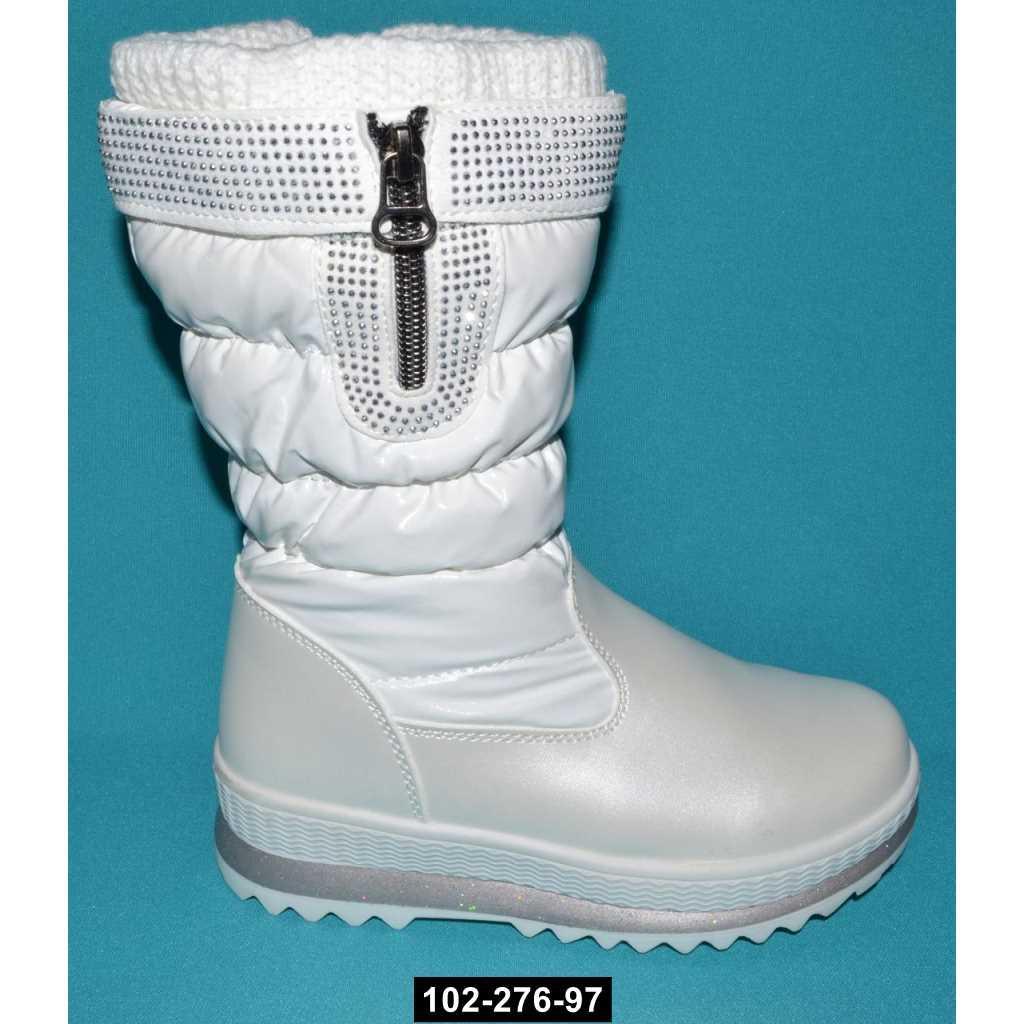 Зимние сапоги для девочки, 27 размер, непромокающие дутики на меху, 102-276-97
