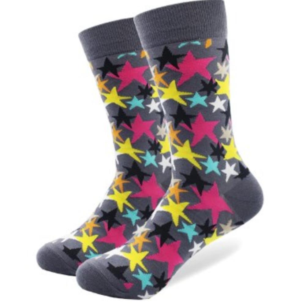 """Мужские носки """"Звездопад"""" серого цвета Friendly Socks"""