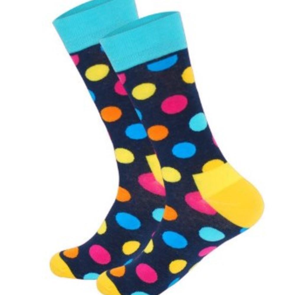 Чоловічі шкарпетки в різнобарвний горох Friendly Socks