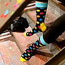 Чоловічі шкарпетки в різнобарвний горох Friendly Socks, фото 3