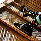 Чоловічі шкарпетки в різнобарвний горох Friendly Socks, фото 4