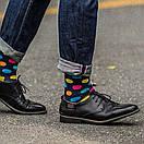 Чоловічі шкарпетки в різнобарвний горох Friendly Socks, фото 5