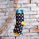 Чоловічі шкарпетки в різнобарвний горох Friendly Socks, фото 6