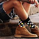 Мужские носки черного цвета в разноцветный горох Friendly Socks, фото 2