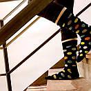 Мужские носки черного цвета в разноцветный горох Friendly Socks, фото 4
