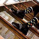 Мужские носки черного цвета в разноцветный горох Friendly Socks, фото 6