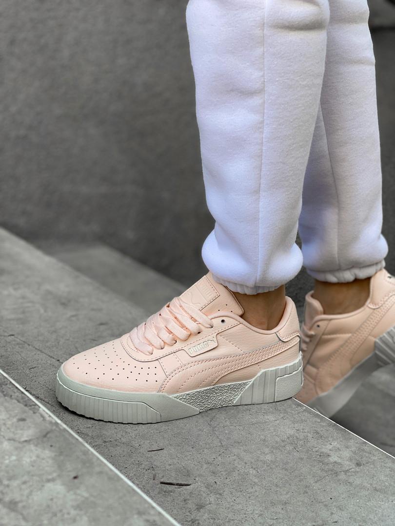 Кроссовки женские Puma Cali.Стильные кроссовки персикового цвета.