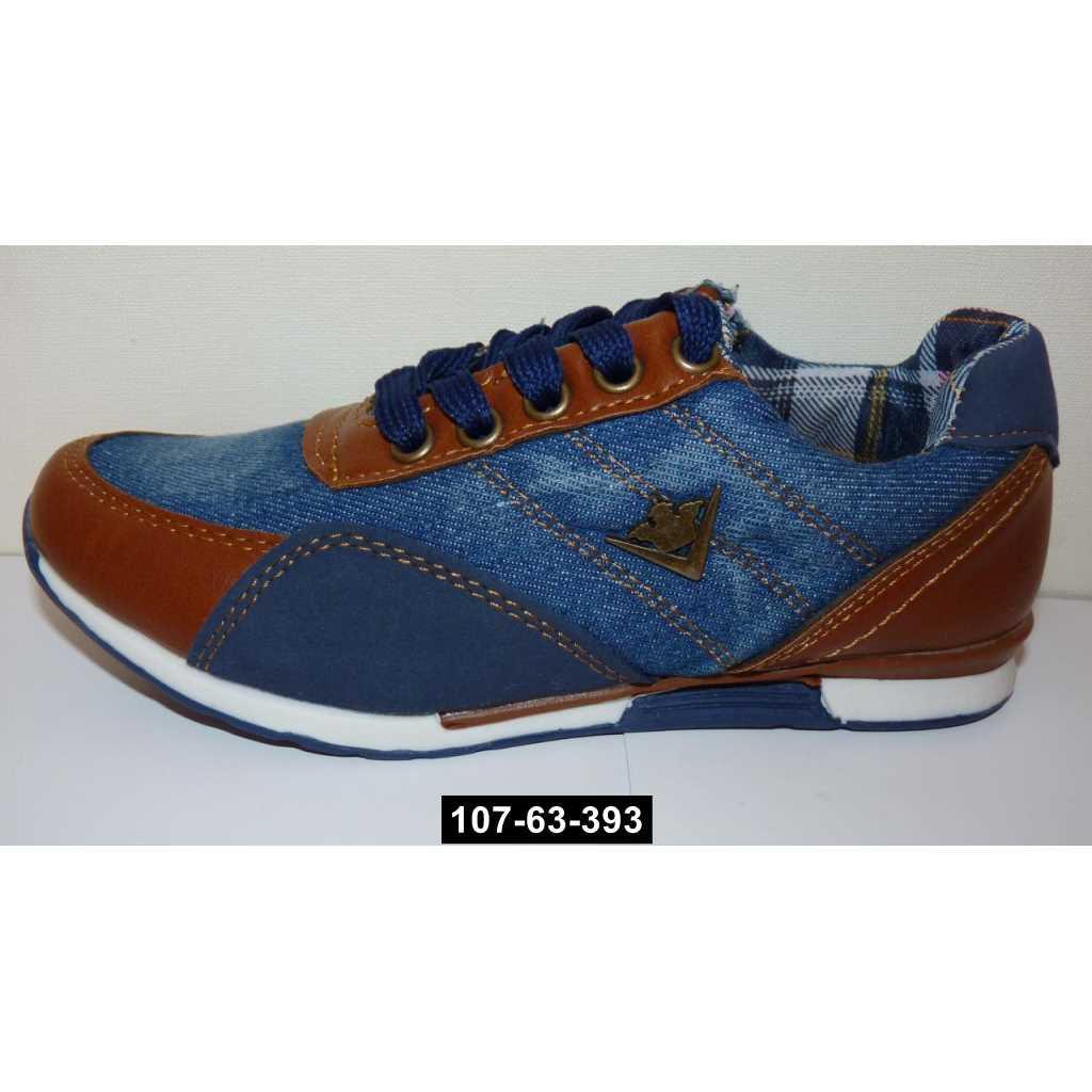 Джинсовые кроссовки, 30 размер / 18.5 см, кожаная стелька, супинатор, 107-63-393