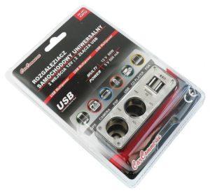 Двійник CarCommerce для гнізда прикурувача + 2 USB  42932