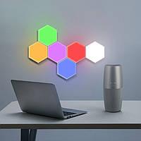 Светильник сенсорный 3DTOYSLAMP Соты Набор 6 шт Разноцветные