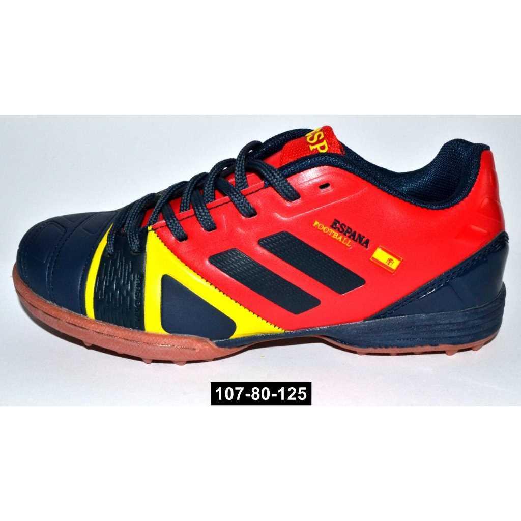Футбольные кроссовки, бутсы для мальчика, 30-35 размер, детские сороконожки, 107-80-125