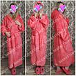 Махровый длинный женский банный халат с капюшоном, на запах р.42-62, фото 3