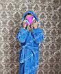 Махровый длинный женский банный халат с капюшоном, на запах р.42-62, фото 5