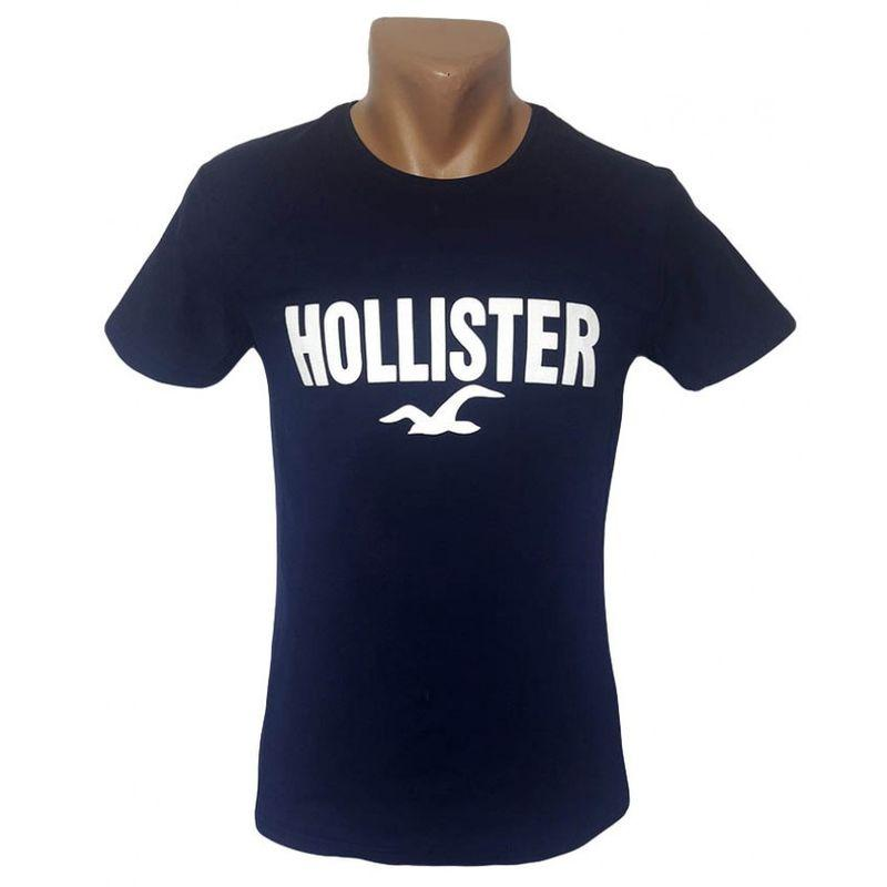 Мужская футболка Hollister темно-синего цвета