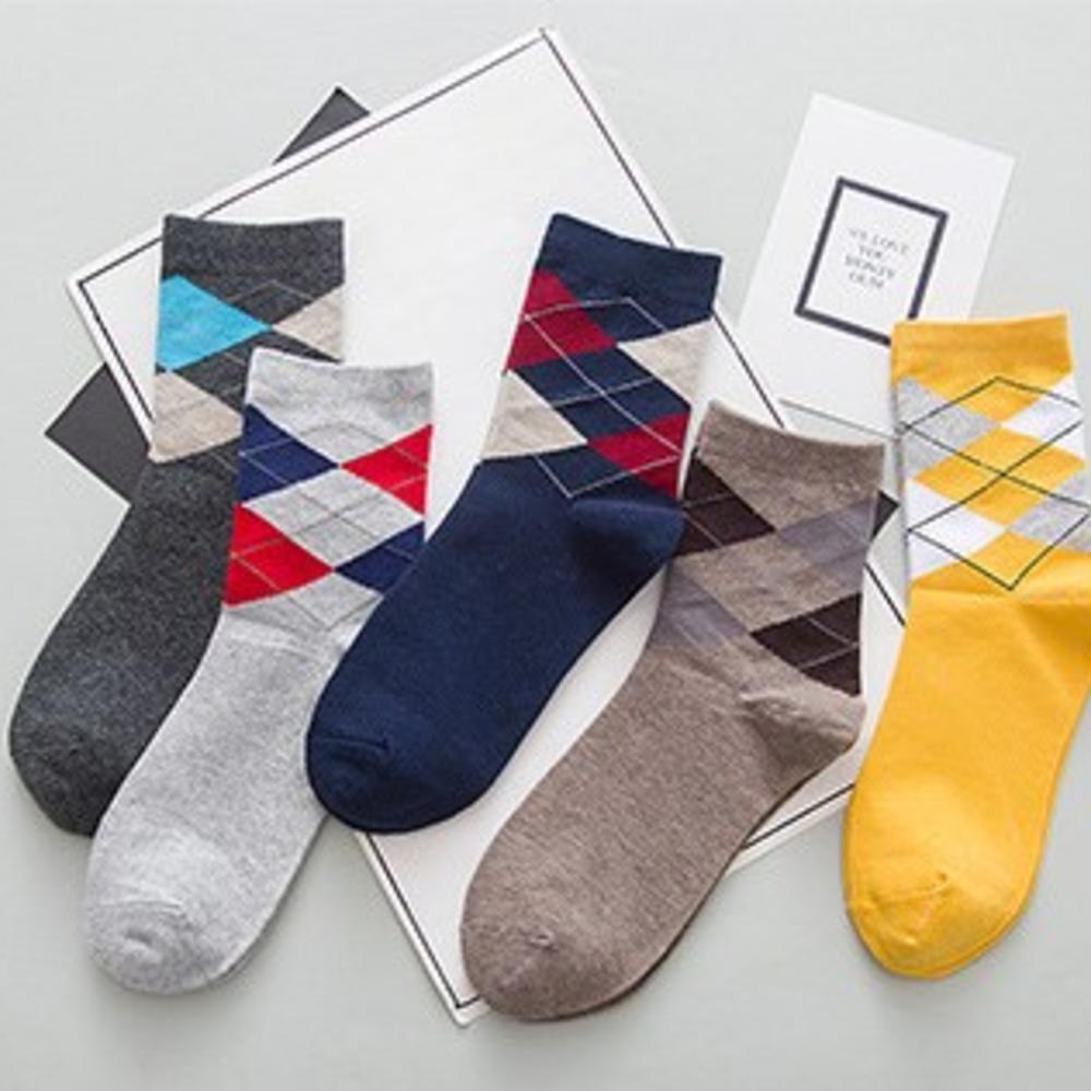 Хлопковые мужские носки в наборе (5 пар)