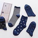 Набор классических мужских носков темно-синего цвета (5 пар), фото 2