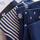 Набор классических мужских носков темно-синего цвета (5 пар), фото 4