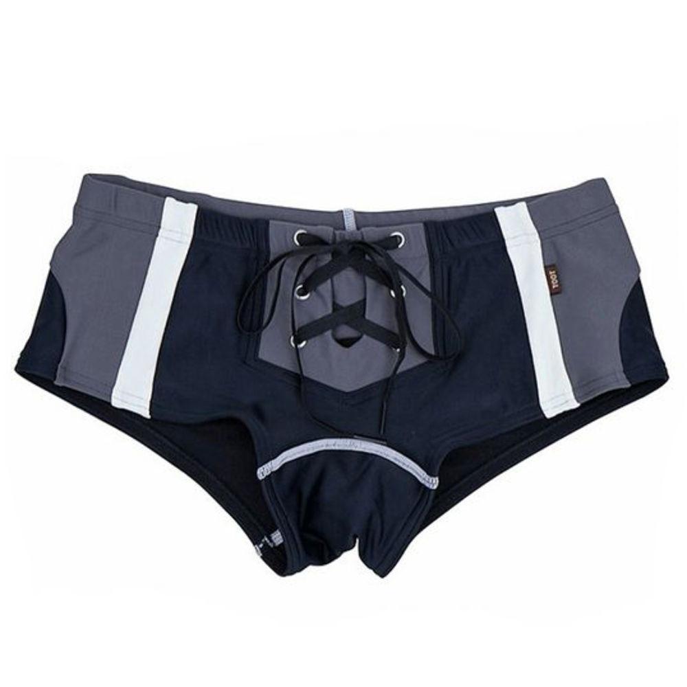 Черные плавки для купания стильной расцветки Asitoo