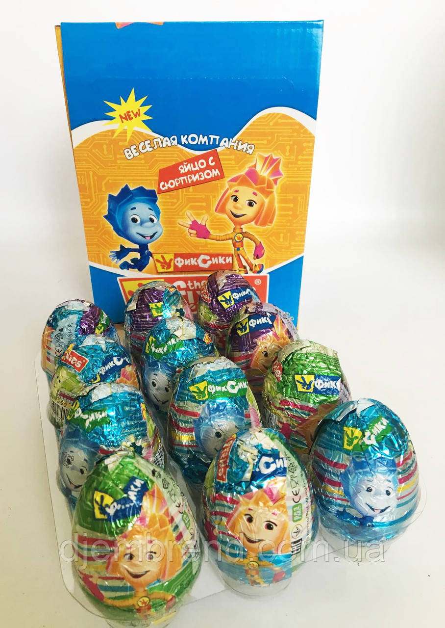 Яйцо шоколадное Фиксики 25 г 24 шт (ANL) Турция