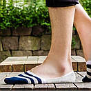 Комплект носков-следов в полоску (5 пар) с силиконовым фиксатором на ноге, фото 6