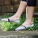Комплект носков-следов в полоску (5 пар) с силиконовым фиксатором на ноге, фото 7