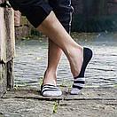 Комплект носков-следов в полоску (5 пар) с силиконовым фиксатором на ноге, фото 8
