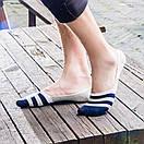 Комплект носков-следов в полоску (5 пар) с силиконовым фиксатором на ноге, фото 9
