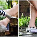 Комплект носков-следов в полоску (5 пар) с силиконовым фиксатором на ноге, фото 10