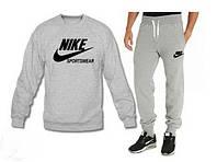 Мужской спортивный костюм Nike серого цвета