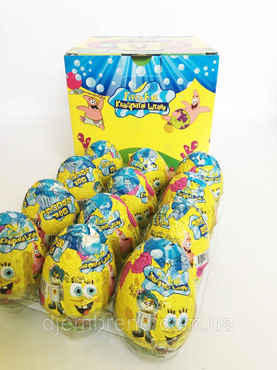Яйцо шоколадное Спанч Боб 25 г 24 шт (ANL) Турция