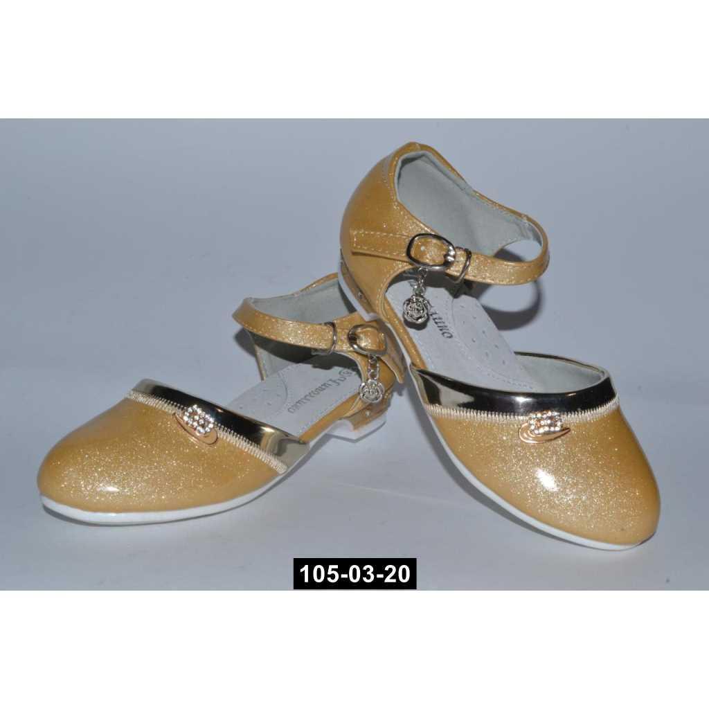 Нарядные туфли для девочки, 25-32 размер, праздничные туфельки на утренник, 105-03-20