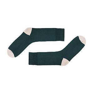 Зимние носки темно-зеленого цвета