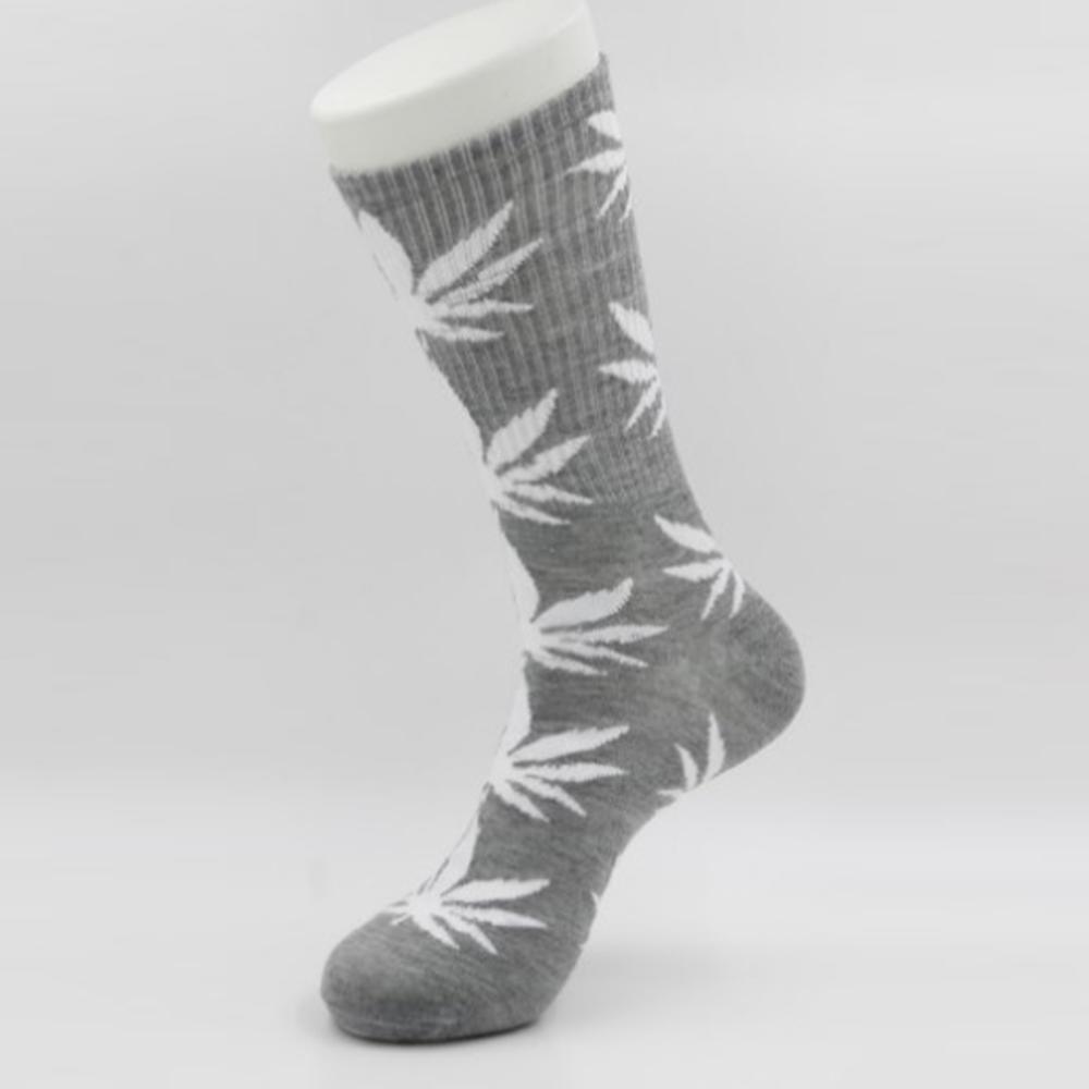 Серые носки HUF в белый лист