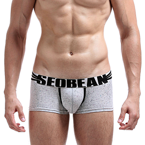 Боксеры  для мужчин  белого цвета Seobean