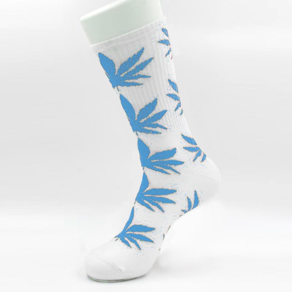 Белые носки HUF в голубой лист