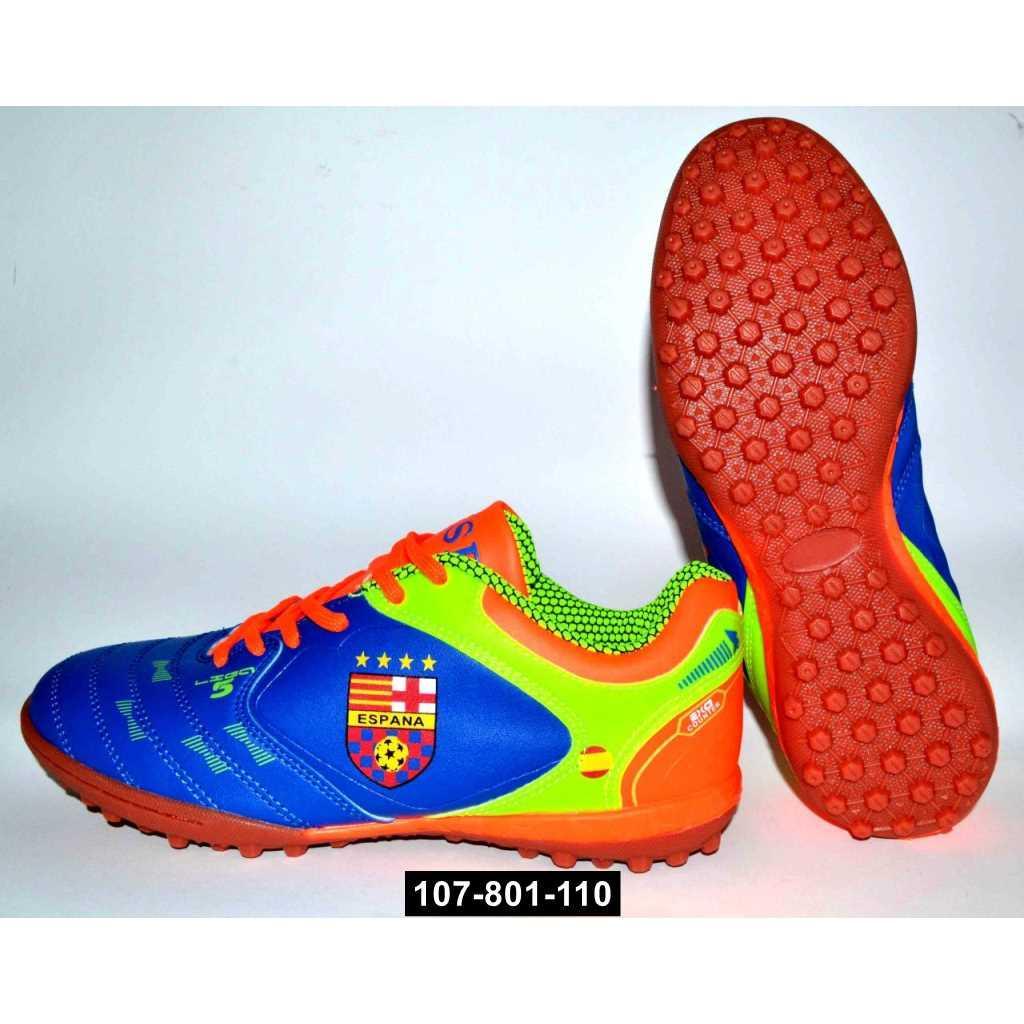 Футбольные кроссовки, сороконожки подростковые, 39-41 размер, бутсы, многошиповки, 107-801-110
