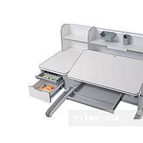 Детский комплект стол-трансформер FunDesk Libro Grey + ортопедическое кресло FunDesk Primo Grey, фото 3