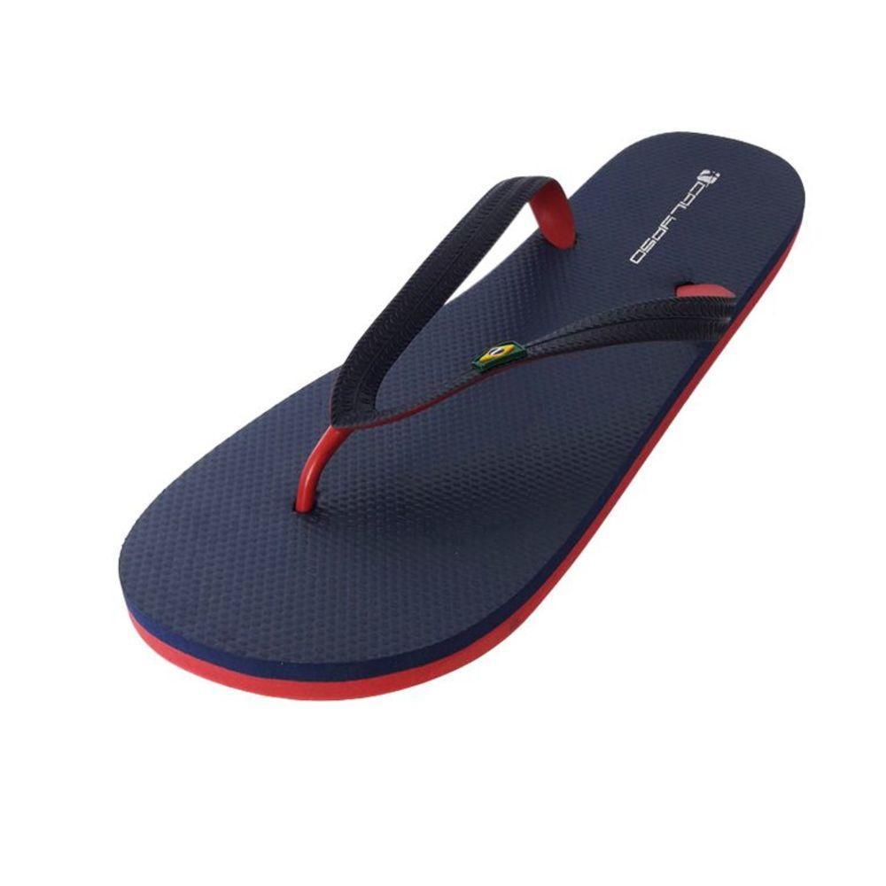 Мужские шлепки Calypso синие с красным