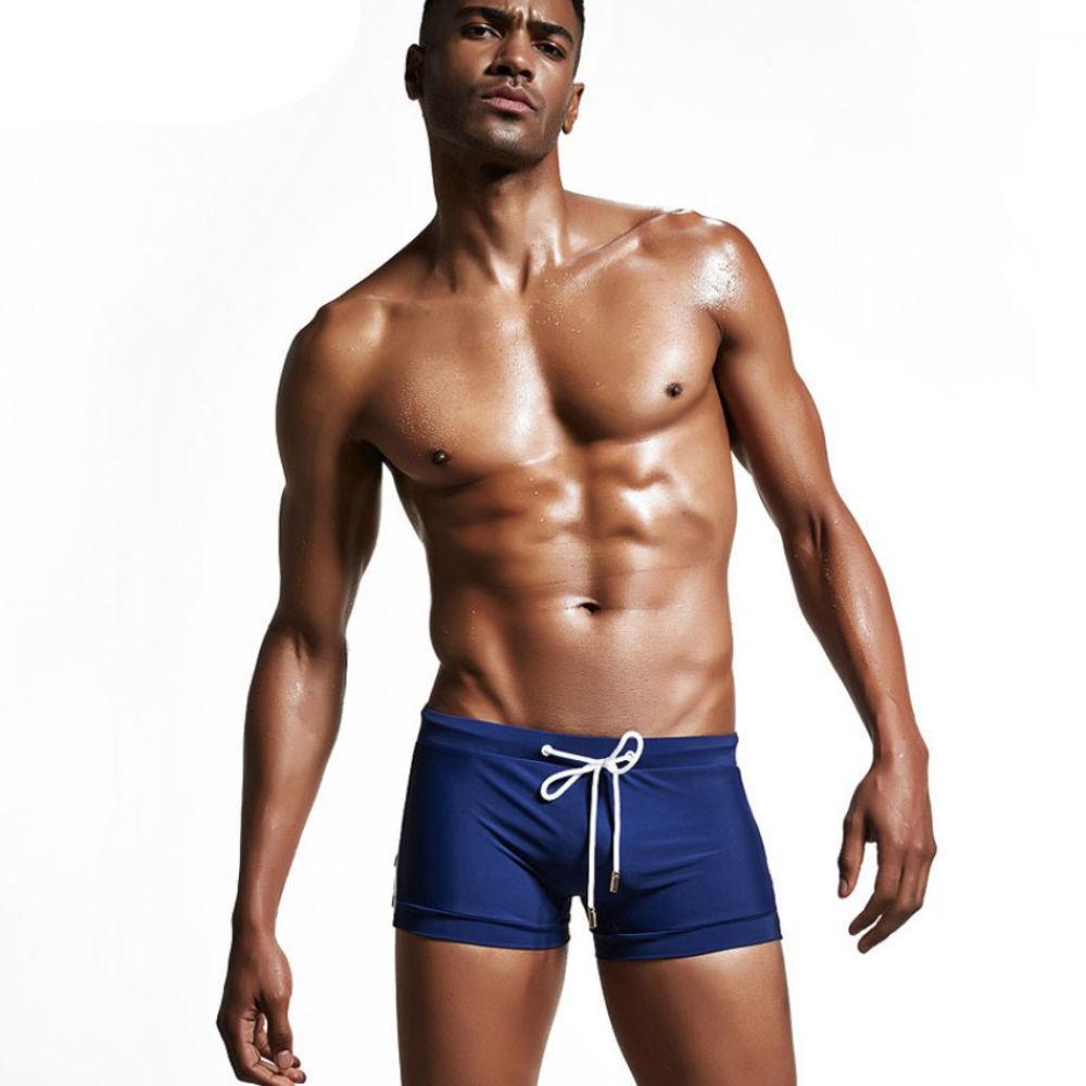 Синие мужские боксерки для плавания