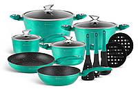Набор посуды из 15 предметов Edenberg с мраморным покрытием EB-5623