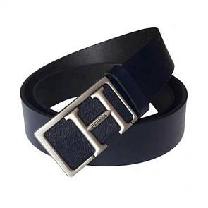 Темно-синий кожаный ремень Hermes