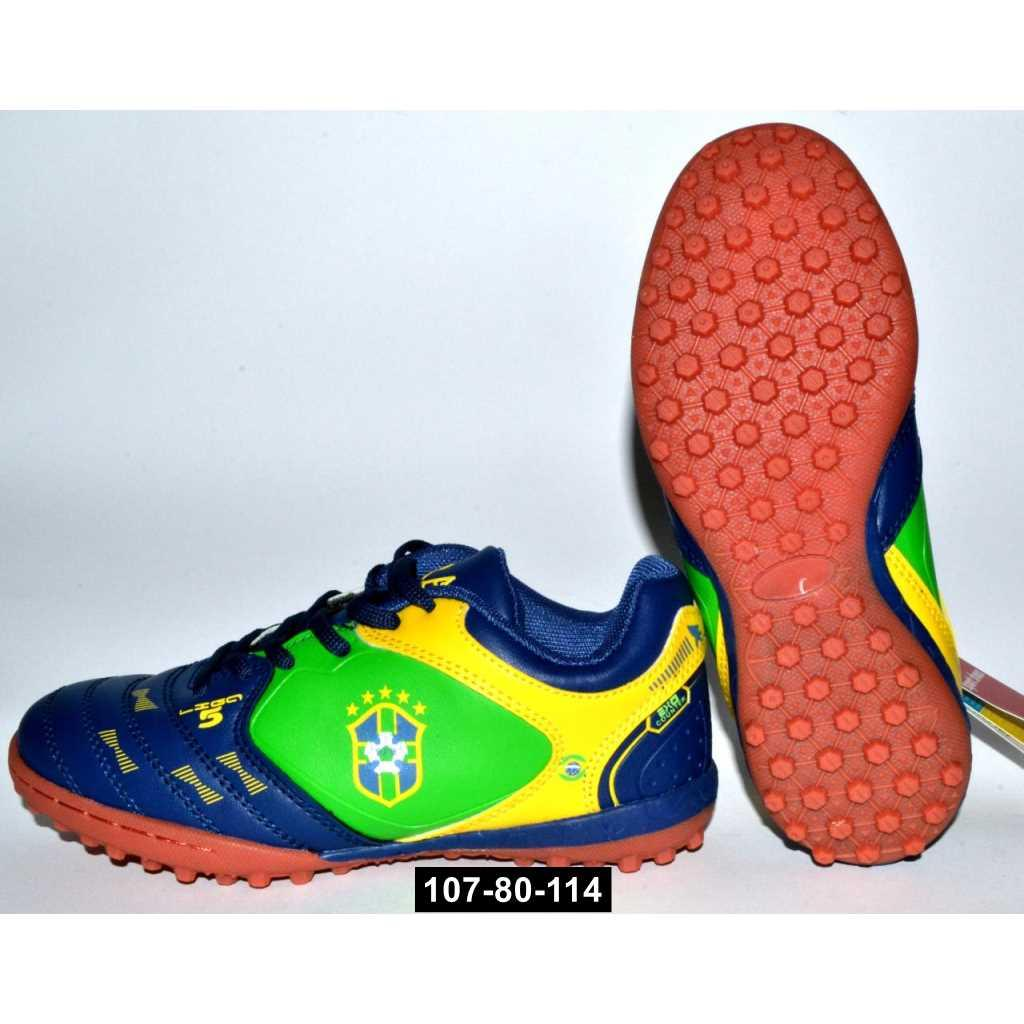 Детские футбольные бутсы, кроссовки для мальчика, 30-36 размер, сороконожки, 107-80-114