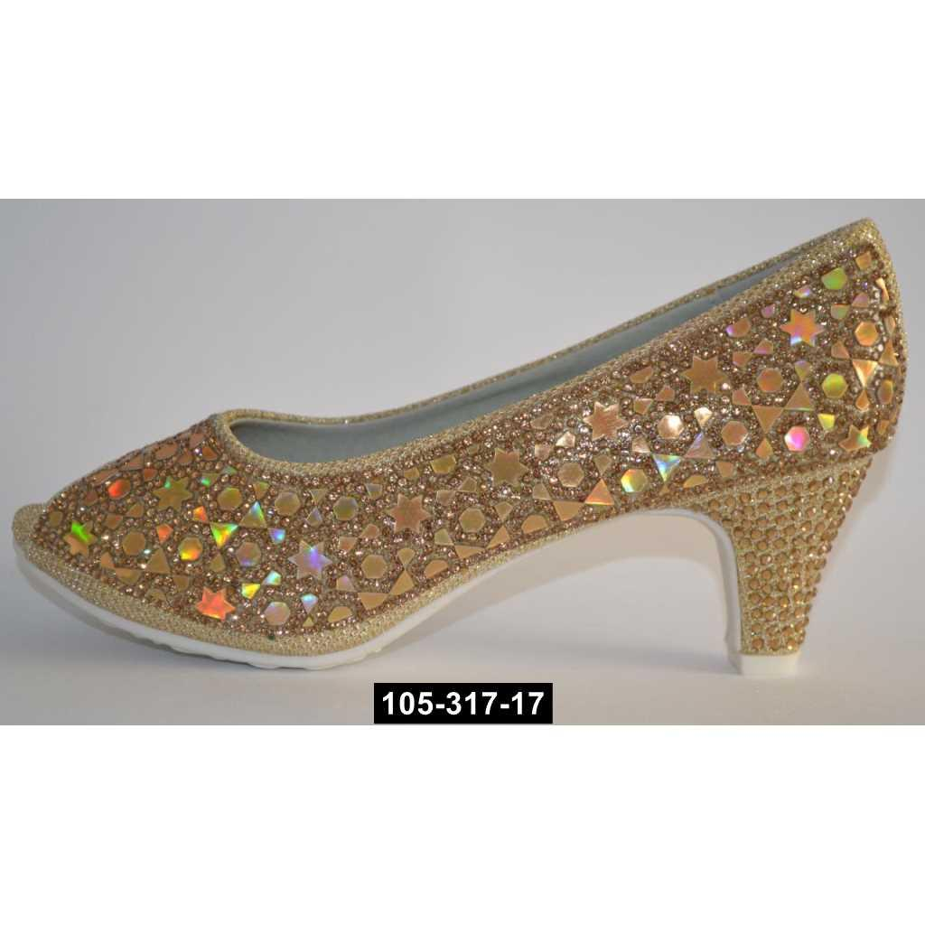 Нарядные, праздничные туфли для девочки, 35-37 размер, на выпускной, утренник, 105-317-17