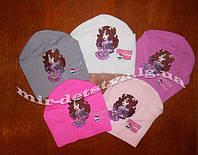 Детские демисезонные вязанные шапки оптом