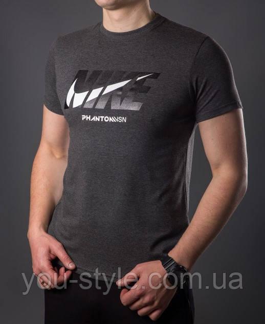 Футболка чоловіча Nike 5384 Темно-сіра