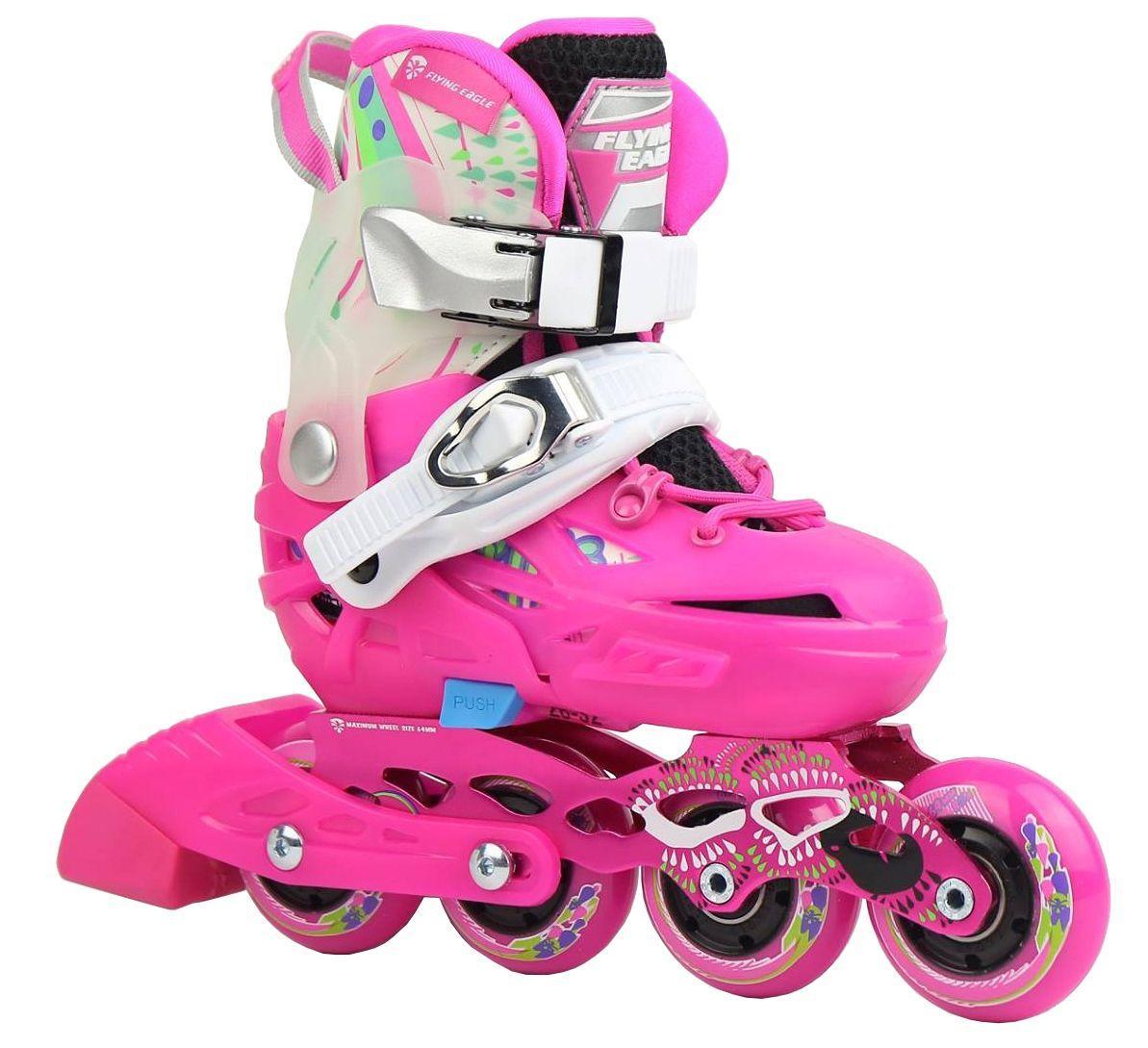 Детские ролики для девочки Flying Eagle S6s(pink)