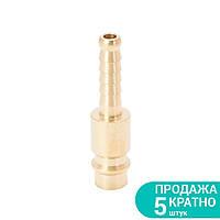 Штуцер для шланга удлиненный 6мм (латунь) SIGMA (7022611), фото 1