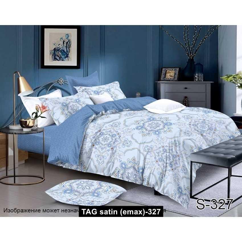 Комплект постельного белья с компаньоном S327, TAG satin (еmax)-327